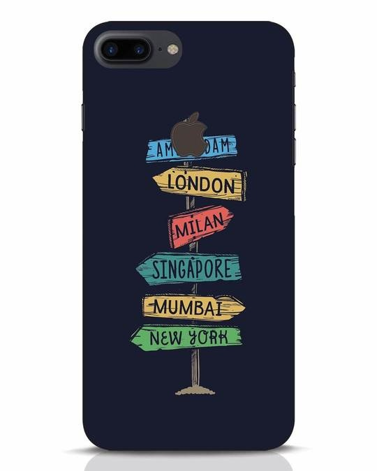 Shop Which Way To Go iPhone 7 Plus Logo Cut Mobile Cover-Front