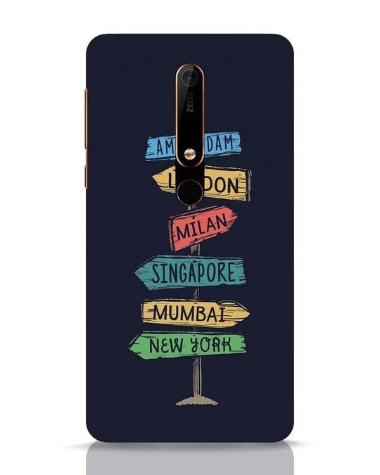 Shop Which Way To Go Nokia 6.1 Mobile Cover-Front