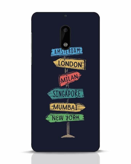 Shop Which Way To Go Nokia 6 Mobile Cover-Front
