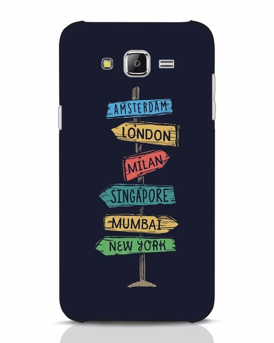 Shop Which Way To Go Samsung Galaxy J7 Mobile Cover-Front