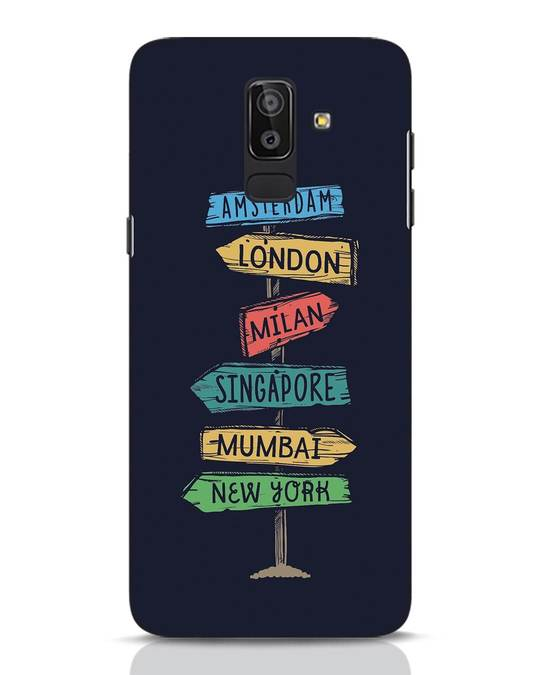 Shop Which Way To Go Samsung Galaxy J8 Mobile Cover-Front