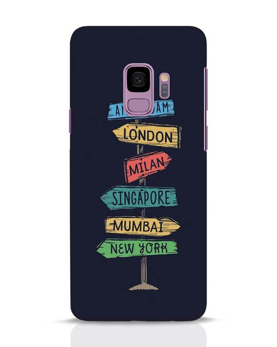 Shop Which Way To Go Samsung Galaxy S9 Mobile Cover-Front