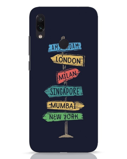 Shop Which Way To Go Xiaomi Redmi Note 7 Pro Mobile Cover-Front