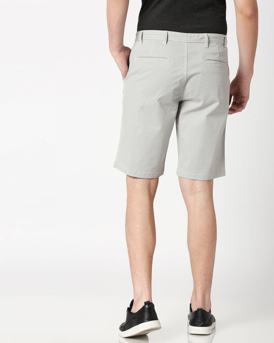 Shop White Textured Men's Shorts-Full