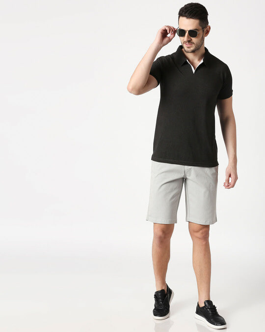 Shop White Textured Men's Shorts