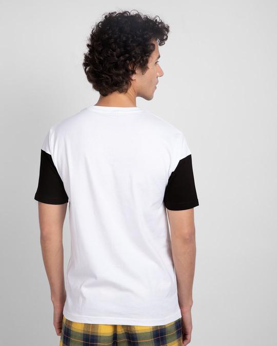 Shop White Black & White 90's Vibe Panel T-Shirt-Design