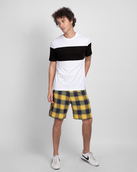 Shop White Black & White 90's Vibe Panel T-Shirt-Full