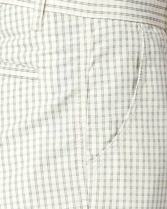 Shop White Checked Men's Shorts