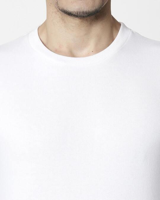 Shop White Fleece Sweater