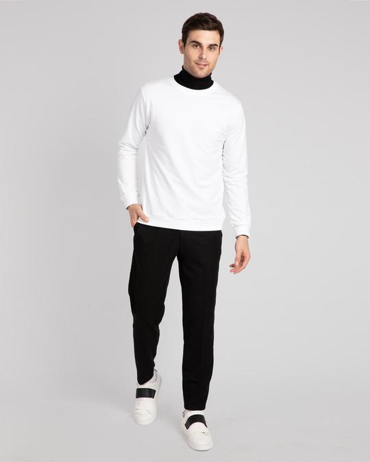 Shop White Fleece Sweater-Full