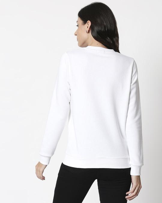 Shop White Fleece Sweatshirt-Full