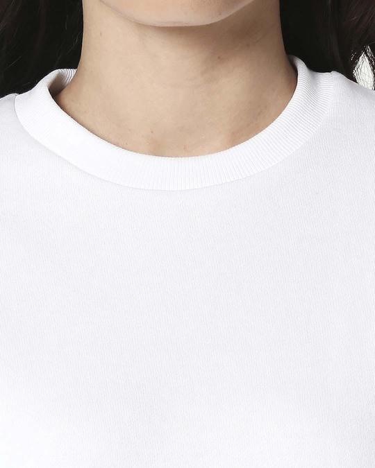 Shop White Fleece Sweatshirt