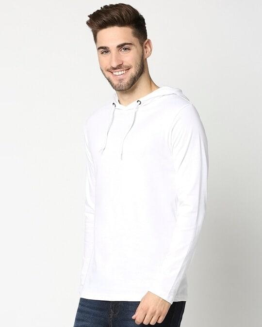 Shop White Full Sleeve Hoodie T-Shirt-Design