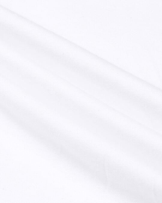Shop White Half Sleeve Plus Size T-Shirt