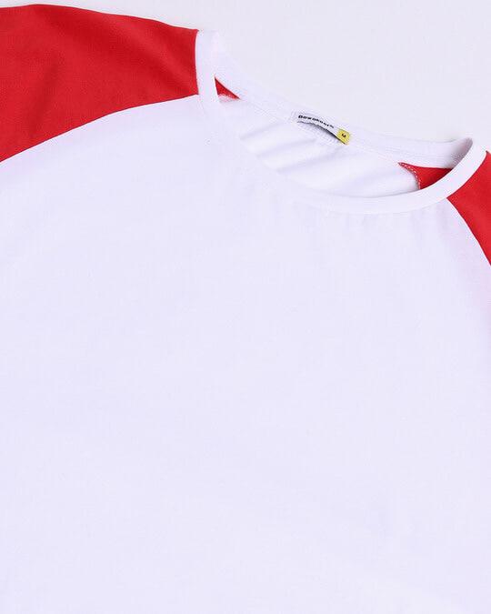 Shop Retro Red Raglan Color Block T-Shirt