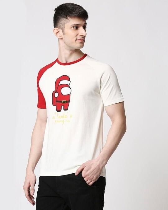 Shop Men Flock Printed Raglan Half Sleeve White T-shirt-Design