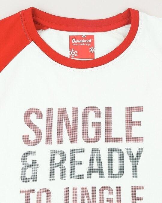 Shop Men HD Print Raglan White T-shirt