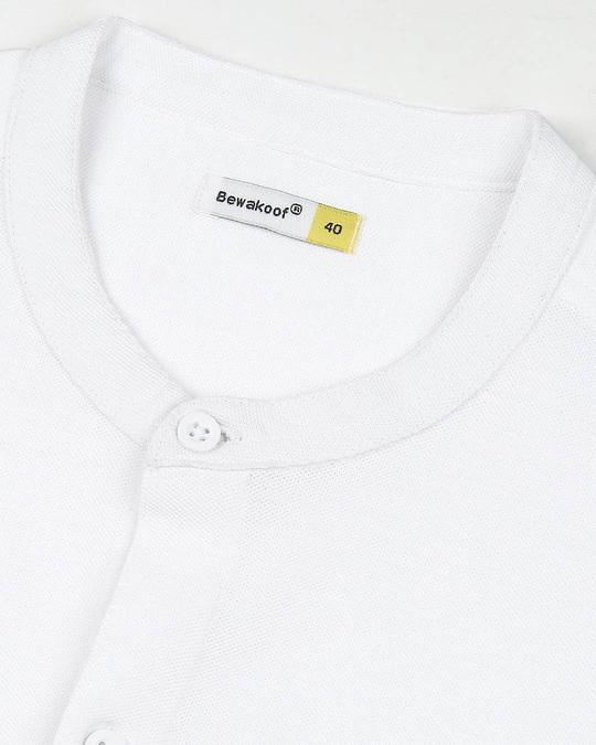 Shop Comfort Stretch Pique Knit White Shirt