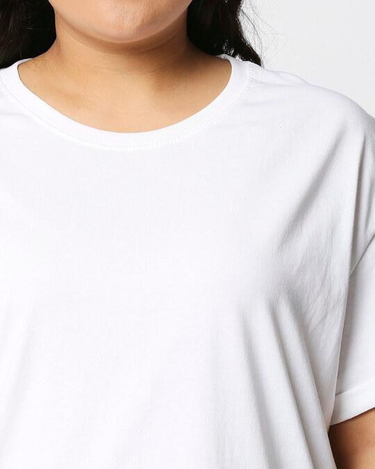 Shop White-Meteor Grey Boyfriend Plus Size T-Shirt Combo