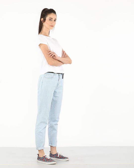Shop White Pique Cropped Top-Full