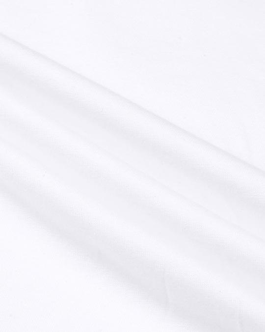 Shop White Plus Size Full Sleeve T-Shirt