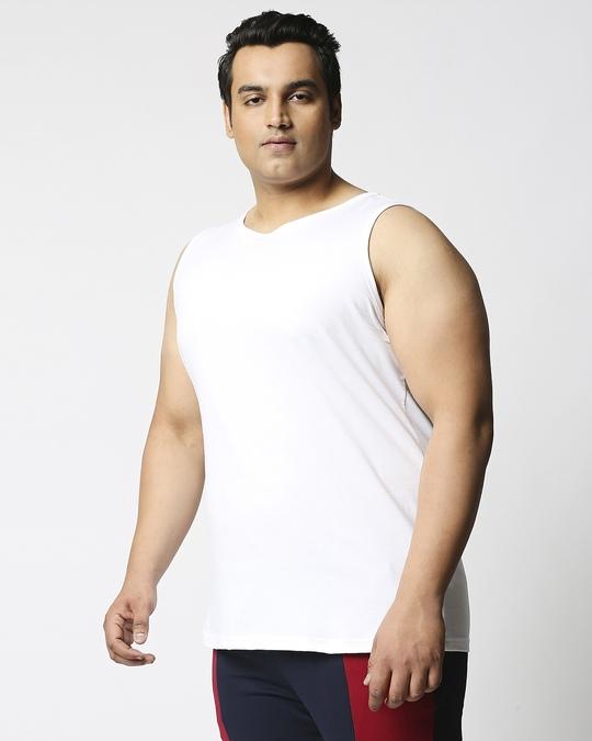 Shop White Plus Size Vest-Back