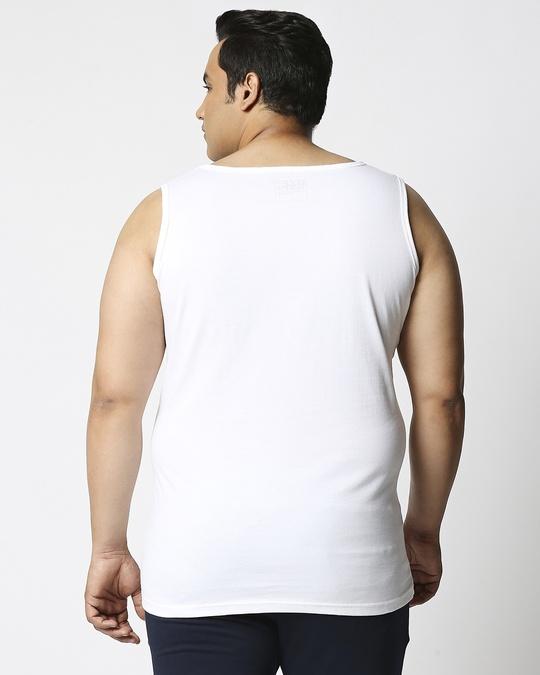 Shop White Plus Size Vest-Design