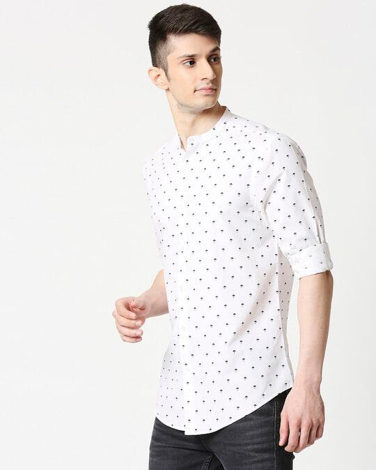 Shop White Poplin Print Shirt-Design