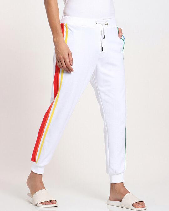 Shop White Pride Side Panel Jogger's-Back