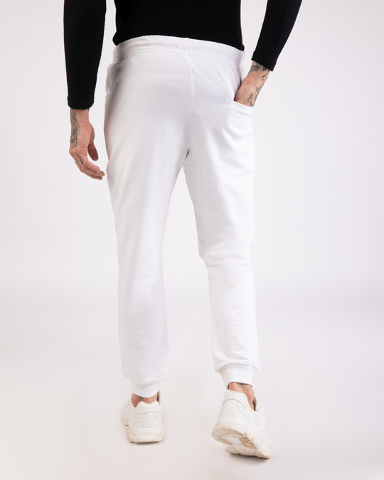 Shop White Round Pocket Joggers Pants-Design