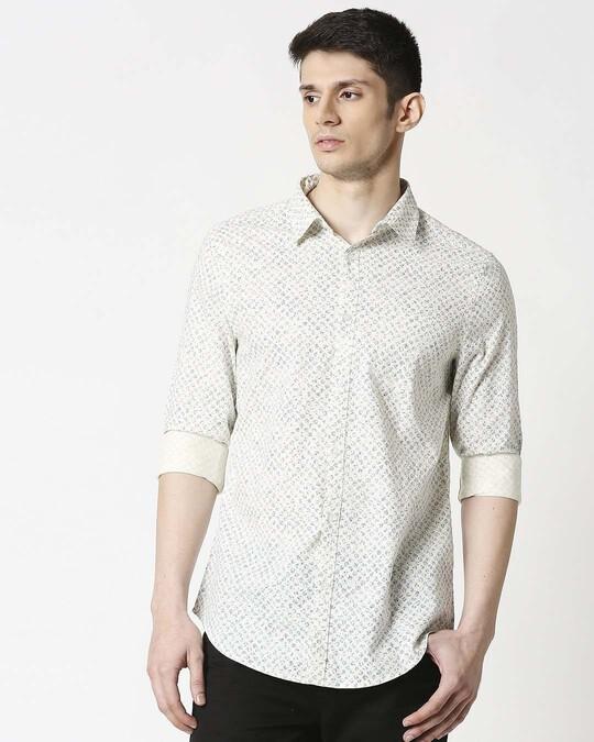 Shop White SLUB Shirt-Back