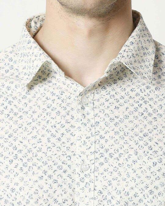 Shop White SLUB Shirt