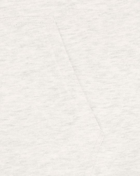 Shop White Snow Stylised Zipper Hoodie