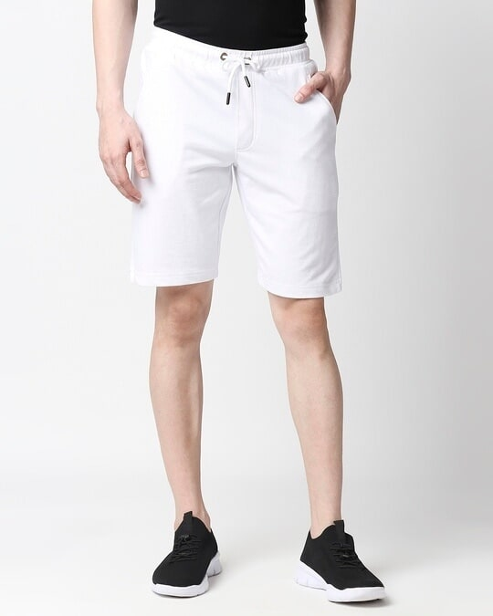 Shop White Casual Shorts-Front