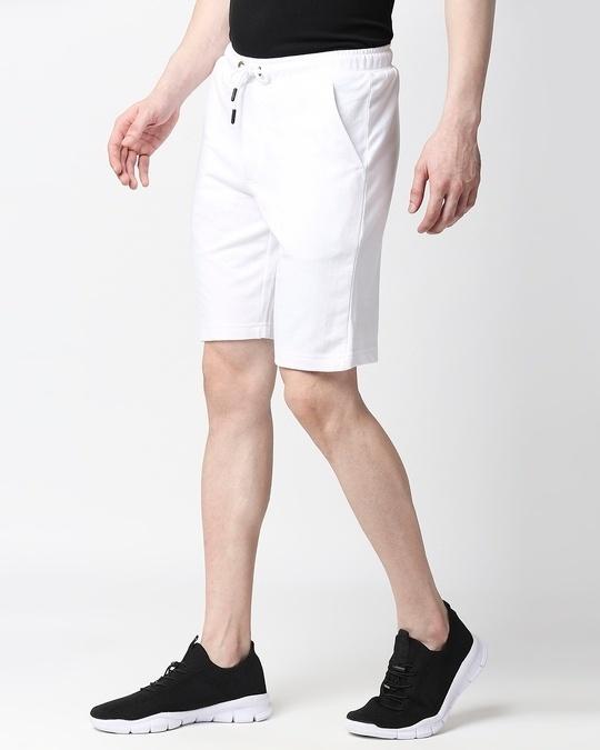 Shop White Casual Shorts-Back