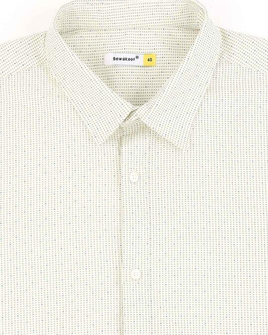 Shop White Twill Lycra Print Shirt