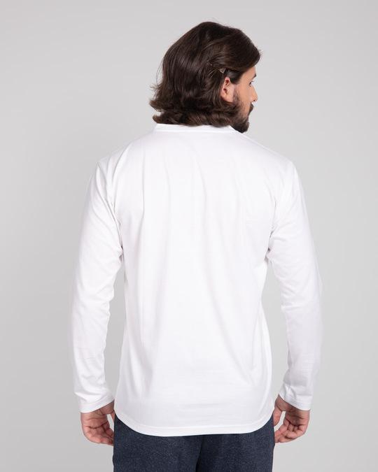 Shop White V-Neck Full Sleeve T-Shirt-Design