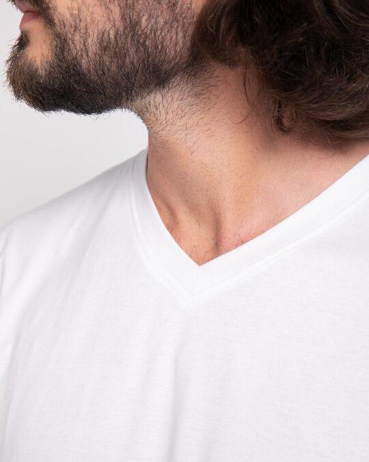 Shop White V-Neck Full Sleeve T-Shirt