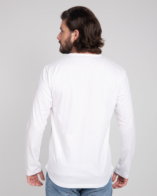 Shop White V-Neck Henley T-Shirt-Design