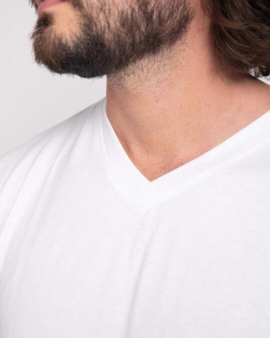 Shop White V-Neck T-Shirt