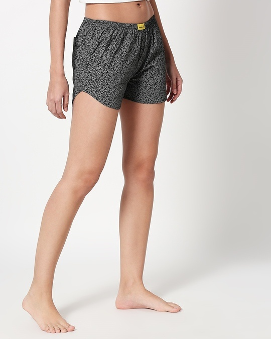 Shop White Vines Women's Printed Boxers-Back