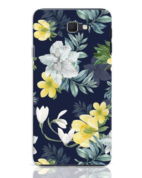 Shop White Yellow Floral Samsung Galaxy J7 Prime Mobile Cover-Front