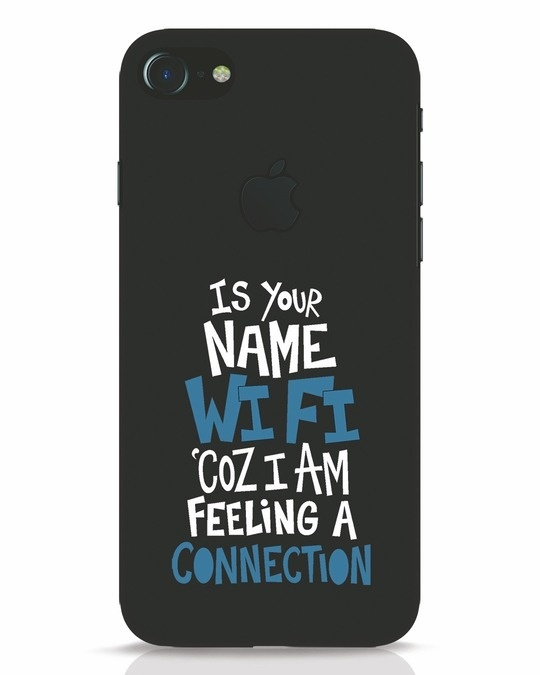 Shop Wi Fi iPhone 7 Logo Cut Mobile Cover-Front
