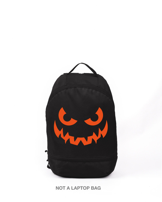 Shop Wicked Smiley Printed Small Backpack-Front