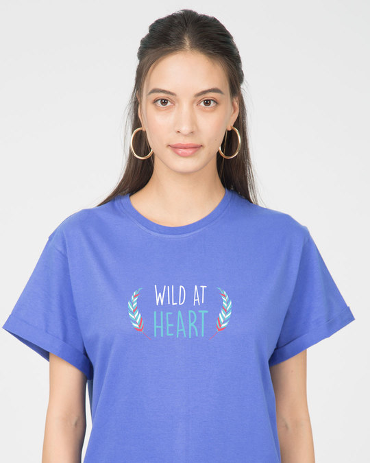 Shop Wild At Heart Boho Boyfriend T-Shirt-Front