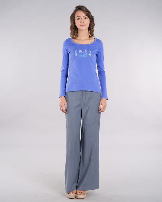 Shop Wild At Heart Boho Scoop Neck Full Sleeve T-Shirt-Design
