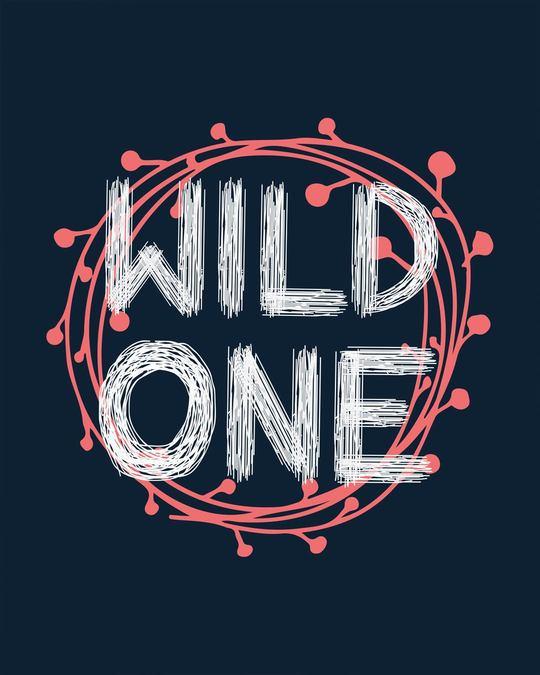 Shop Wild One Typography Basic Round Hem T-Shirt