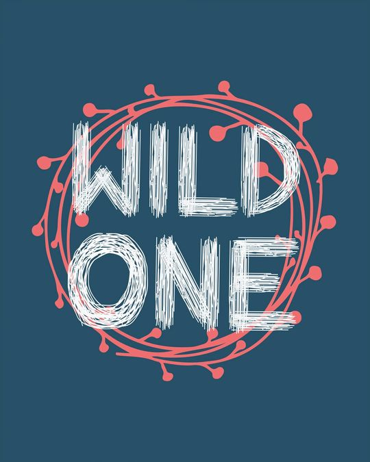 Shop Wild One Typography Basic Round Hem T-Shirt