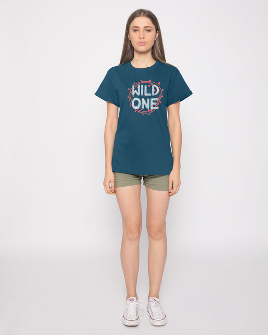 Shop Wild One Typography Boyfriend T-Shirt