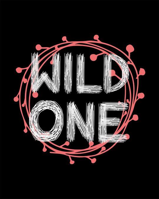 Shop Wild One Typography Round Neck 3/4th Sleeve T-Shirt